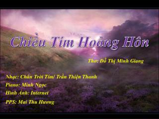 Thơ: Đỗ Thị Minh Giang