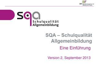SQA ‒ Schulqualität Allgemeinbildung