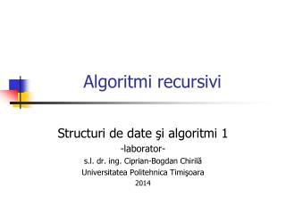 Algoritmi recursivi
