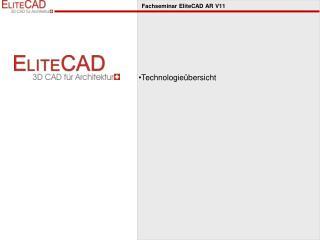 Fachseminar  EliteCAD  AR V11