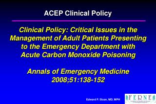 Clinical Decision Making In Emergency Medicine Pone Vedra Beach, FL June 27, 2008