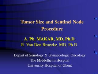 Tumor Size and Sentinel Node Procedure