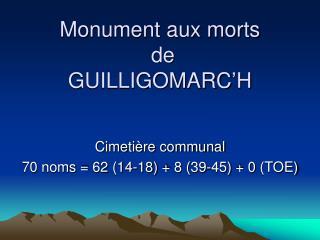 Monument aux morts  de  GUILLIGOMARC'H