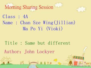 Morning Sharing Session