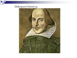 Shakespeare�s Sonnet 29