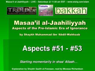 Aspects # 51  - #5 3