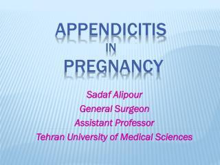 Appendicitis  in  pregnancy