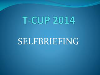 T-CUP 2014