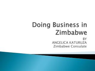 Doing  B usiness in Zimbabwe