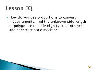 Lesson EQ