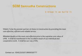SDM Samrudha Constructions