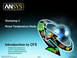 Workshop 3 Room Temperature Study