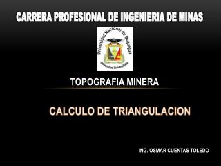CALCULO DE TRIANGULACION