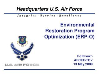 Environmental Restoration Program Optimization ERP-O