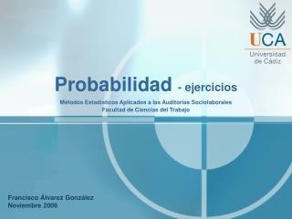 Probabilidad  - ejercicios