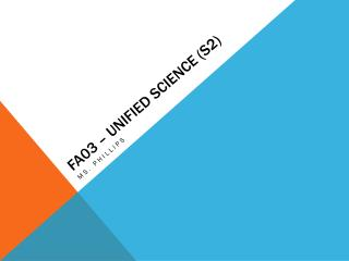 FA03 – Unified Science (S2)