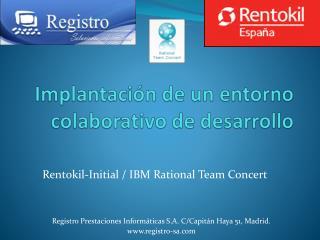 Implantación de un entorno colaborativo de desarrollo
