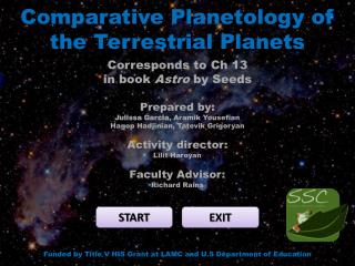 Comparative  Planetology  of the Terrestrial Planets