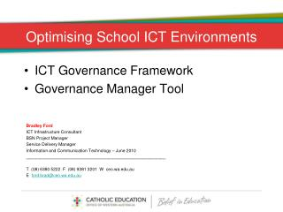 Optimising School ICT Environments