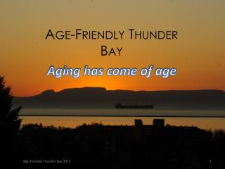 Age-Friendly Thunder Bay