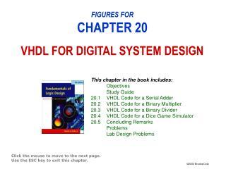 FIGURES FOR CHAPTER 20 VHDL FOR DIGITAL SYSTEM DESIGN