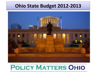 Ohio State Budget 2012-2013