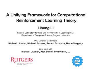 A Unifying Framework for Computational Reinforcement Learning Theory