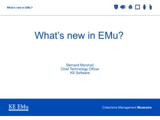 What's new in EMu?
