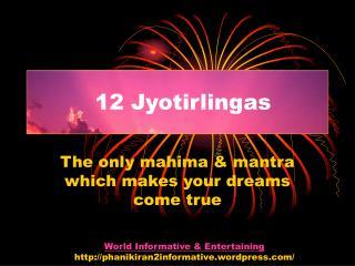 12 Jyotirlingas