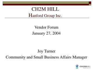 CH2M HILL H anford Group Inc.