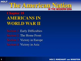 Chapter 18  AMERICANS IN  WORLD WAR II
