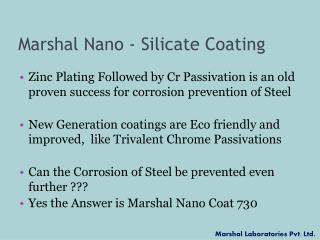 Marshal Nano - Silicate Coating
