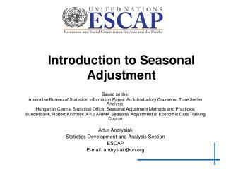 Introduction to Seasonal Adjustment