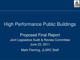 High Performance Public Buildings