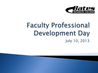 Faculty Professional Development Day
