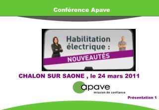 Conférence Apave