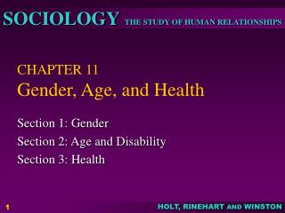 CHAPTER 11 Gender, Age, and Health