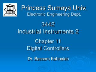 3442 Industrial Instruments 2 Chapter 11 Digital Controllers