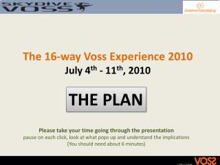 The 16-way Voss  Experience  2010 July  4 th  - 11 th , 2010