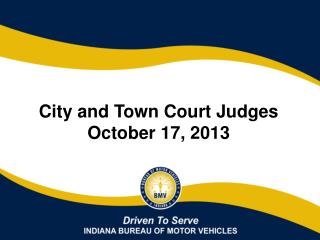 City and Town Court Judges  October 17, 2013