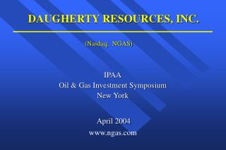 DAUGHERTY RESOURCES, INC.