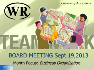 BOARD MEETING Sept 19,2013