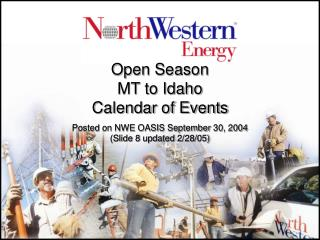 Open Season MT to Idaho Calendar of Events