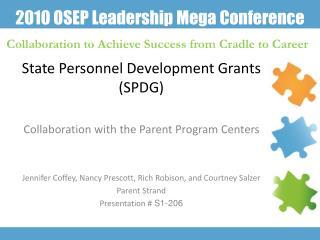 State Personnel Development Grants SPDG