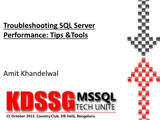 Troubleshooting SQL Server Performance