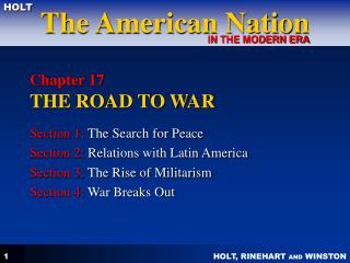 Chapter 17  THE ROAD TO WAR