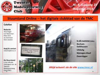 Stuurstand Online – het digitale clubblad van de TMC