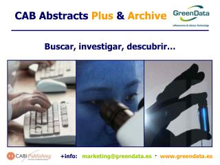 "CAB Abstracts  Plus ""¿Te gusta investigar? """
