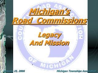 Michigan's  Road  Commissions