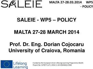 MALTA 27-28.03.2014      WP5  - POLICY